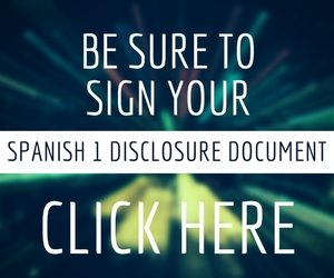 Spanish 1 Disclosure Document